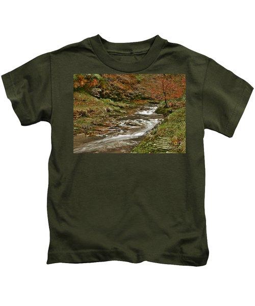 Winter Forest Stream Kids T-Shirt