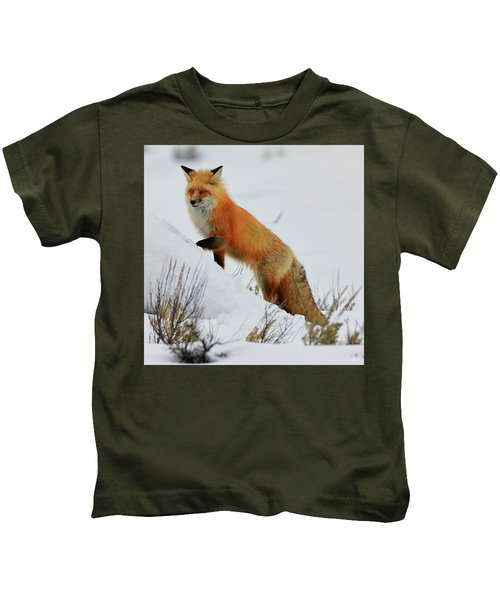 Winter Fox Kids T-Shirt