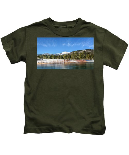 Winter In Ruidoso Kids T-Shirt