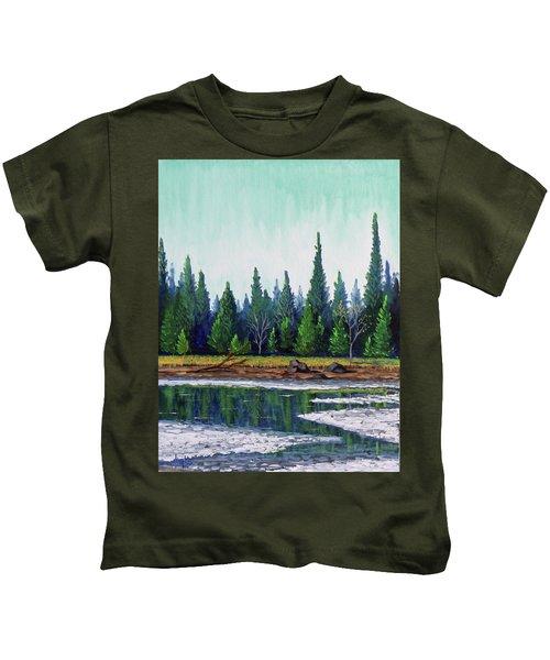 Winter Pond Kids T-Shirt