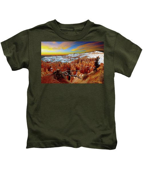 Winter Sunrise At Bryce Kids T-Shirt