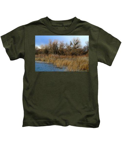 Winter Trees Along The Snake Kids T-Shirt