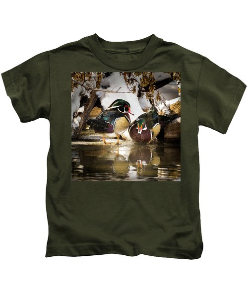 Winter Visitors - Wood Ducks Kids T-Shirt