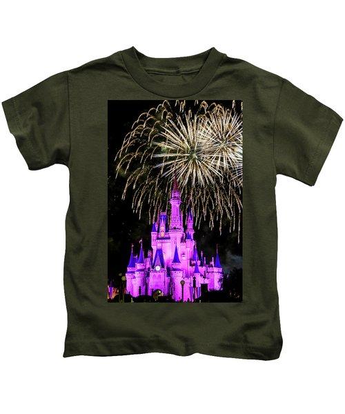 Wishes Fireworks Disney World  Kids T-Shirt