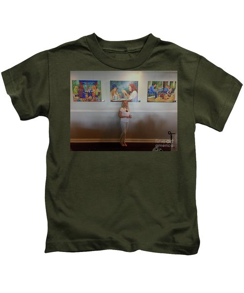 With 3 Paintings Kids T-Shirt
