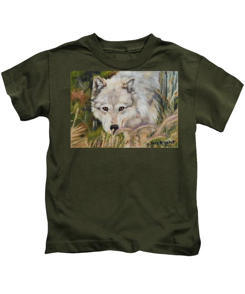 Wolf Among Foxtails Kids T-Shirt