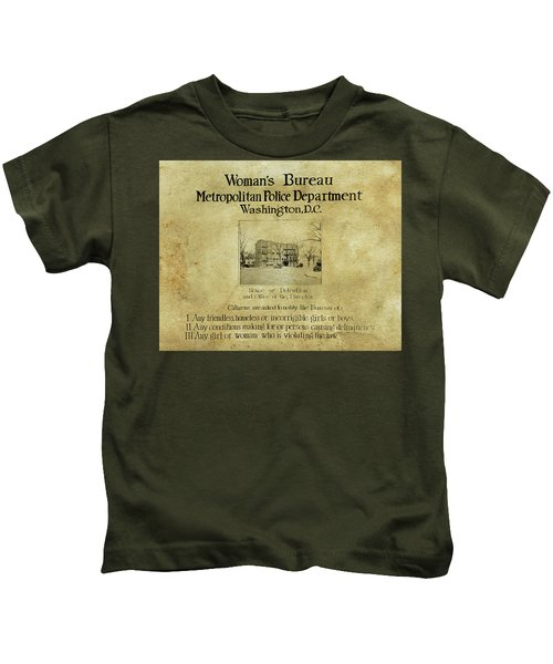 Women's Bureau House Of Detention Poster 1921 Kids T-Shirt