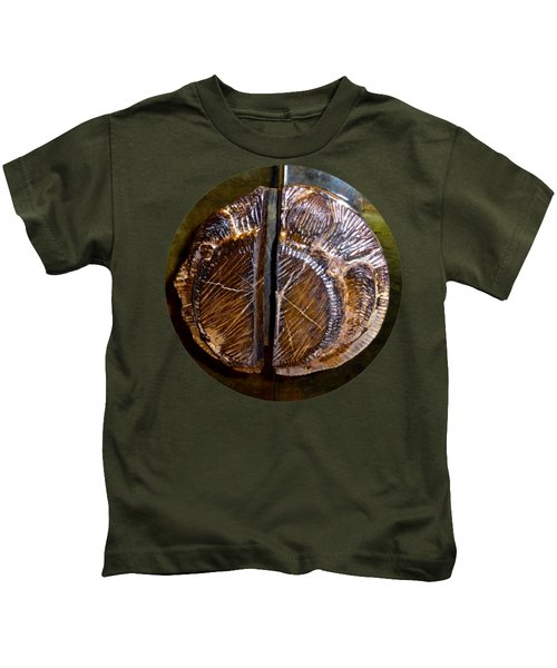 Wood Carved Fossil Kids T-Shirt