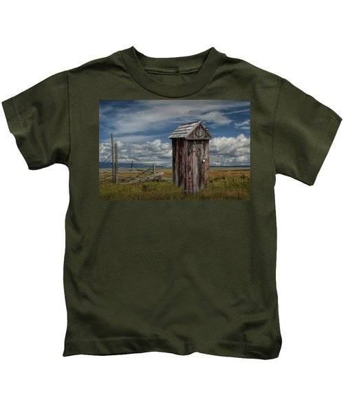 Wood Outhouse Out West Kids T-Shirt