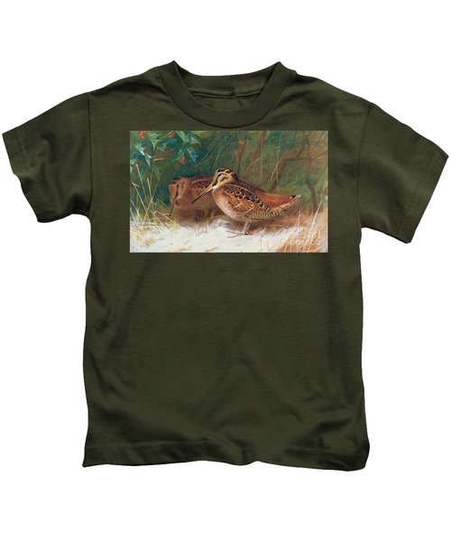 Woodcock In The Undergrowth Kids T-Shirt