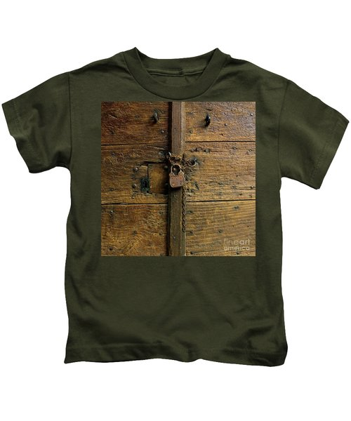 Wooden Door Kids T-Shirt