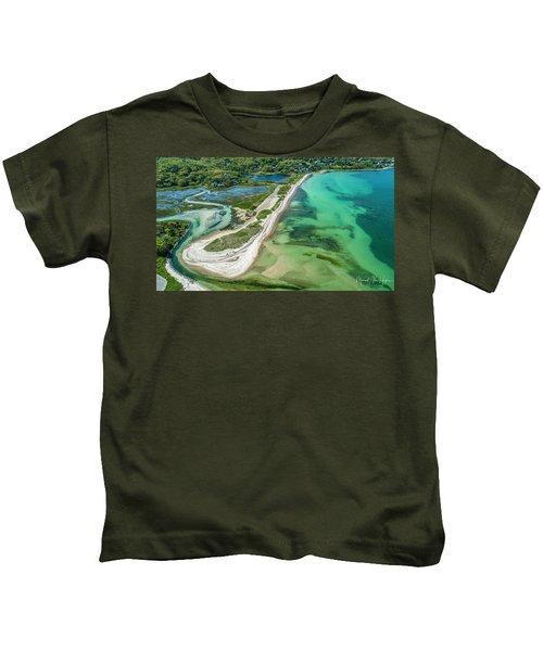 Woodneck Beach Kids T-Shirt