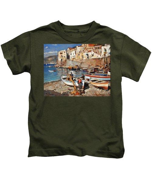 Work Never Ends For Amalfi Fishermen Kids T-Shirt