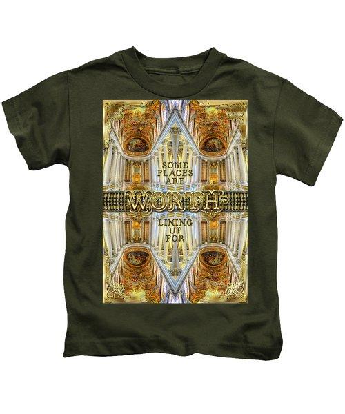 Worth Lining Up For Versailles Palace Chapel Paris Kids T-Shirt