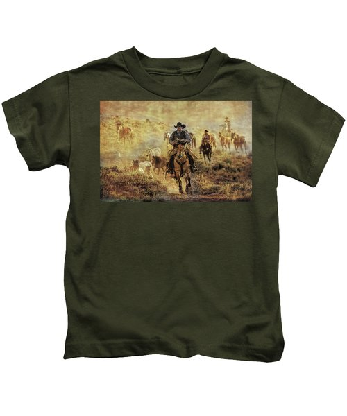 A Dusty Wyoming Wrangle Kids T-Shirt