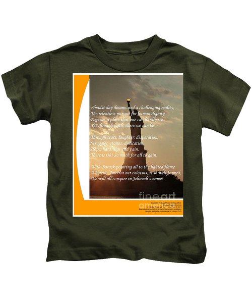 Writer, Artist, Phd. Kids T-Shirt by Dothlyn Morris Sterling