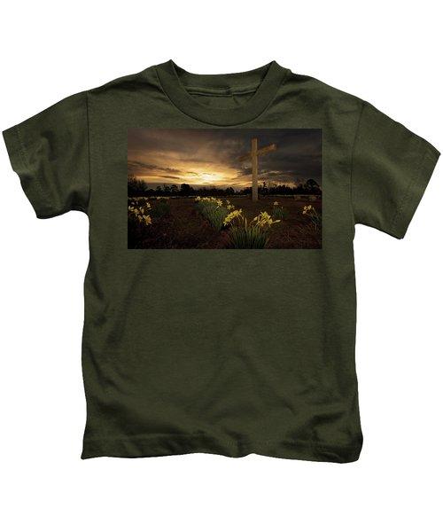Wye Mountain Sunset Kids T-Shirt
