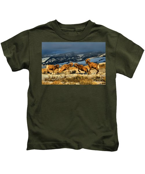 Wyoming Bighorn Brawl Kids T-Shirt