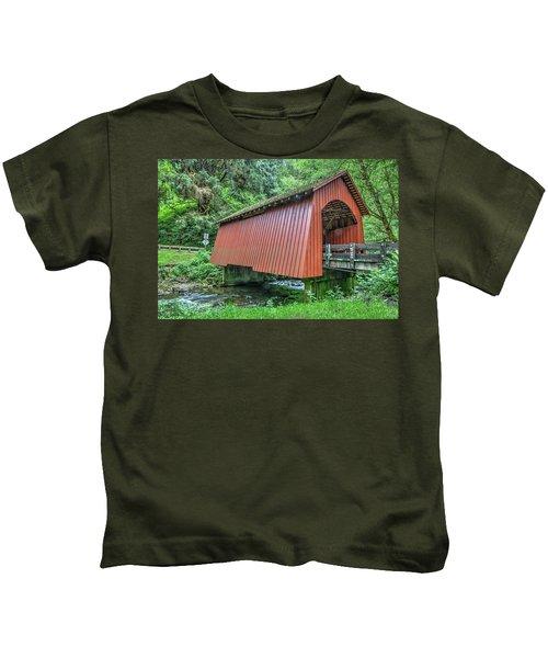 Yachats Covered Bridge Kids T-Shirt