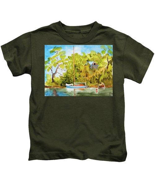 Yacht Weene' In Barnes Bay  Kids T-Shirt