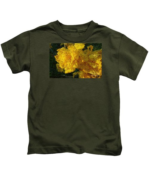 Yellow Abstraction Kids T-Shirt