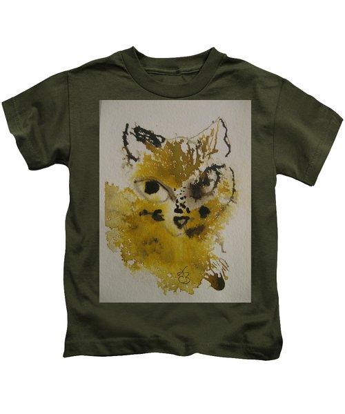 Yellow And Brown Cat Kids T-Shirt