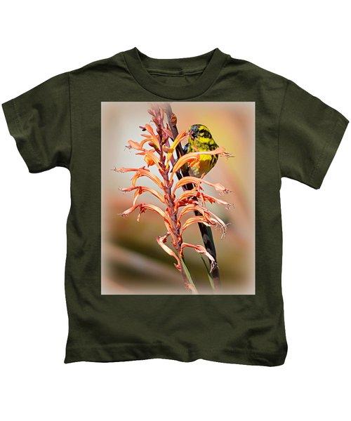 Yellow Bird Hi Kids T-Shirt