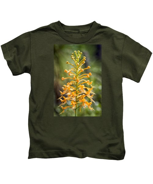 Yellow Fringed Orchid Kids T-Shirt