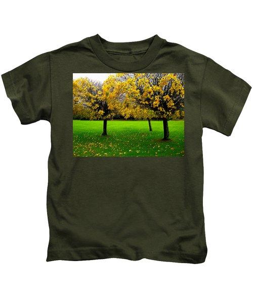 Yellow Leaves At Muckross Gardens Killarney Kids T-Shirt