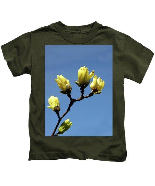 Yellow Magnolia Kids T-Shirt