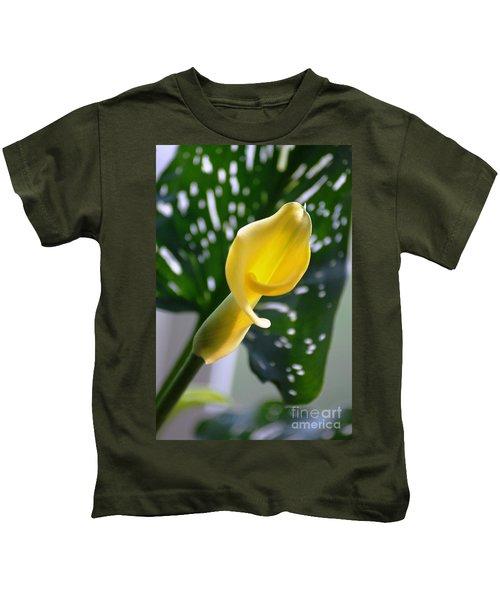 Yellow Mini Calla Lilies Kids T-Shirt
