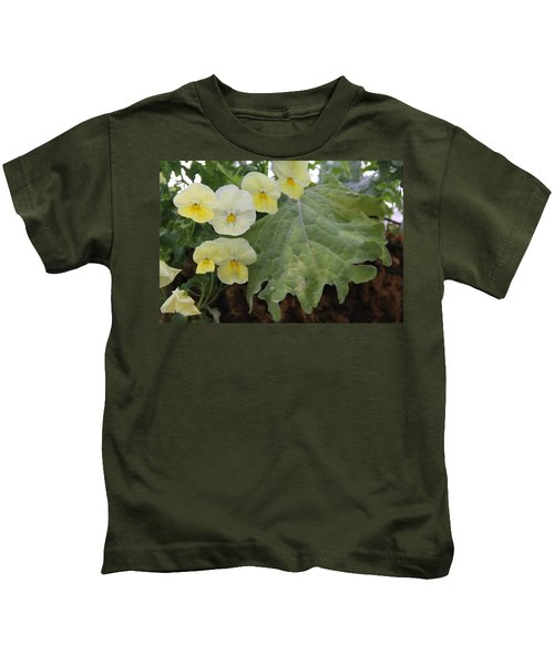 Yellow Pansies Kids T-Shirt