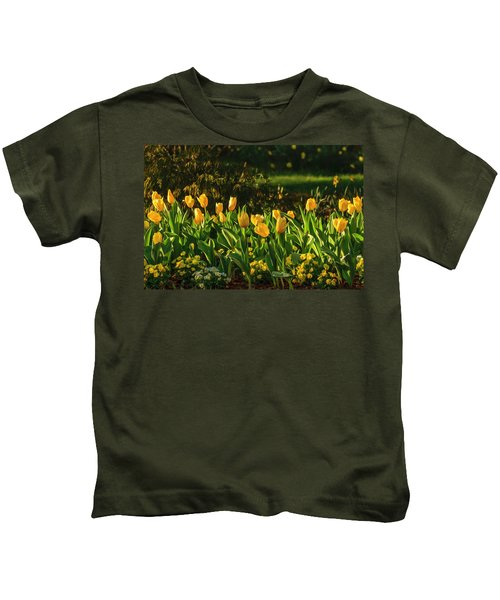 Yellow Spring Fever Kids T-Shirt