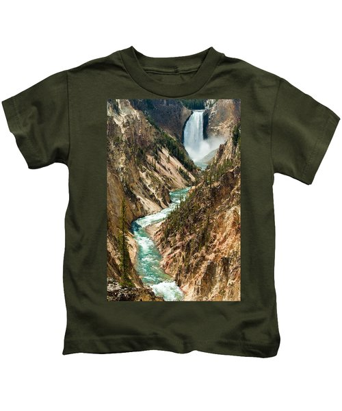 Yellowstone Waterfalls Kids T-Shirt