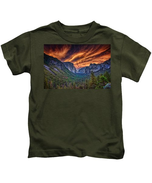 Yosemite Fire Kids T-Shirt