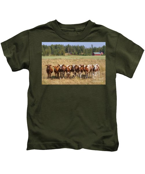 Young Calves On Pasture Kids T-Shirt