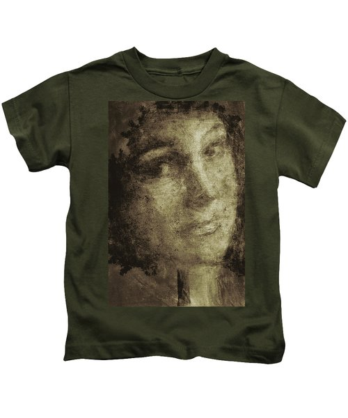 Young Mother Nature Digital Painting Kids T-Shirt