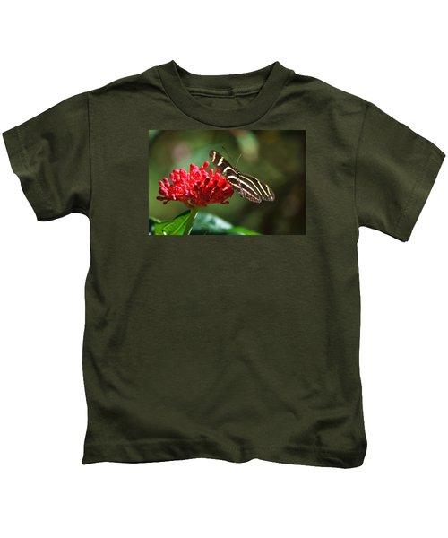 Zebra Heliconia Butterfly Kids T-Shirt