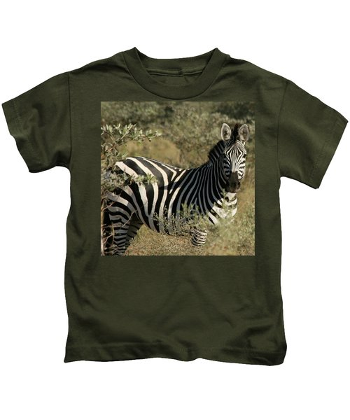 Zebra Portrait Kids T-Shirt