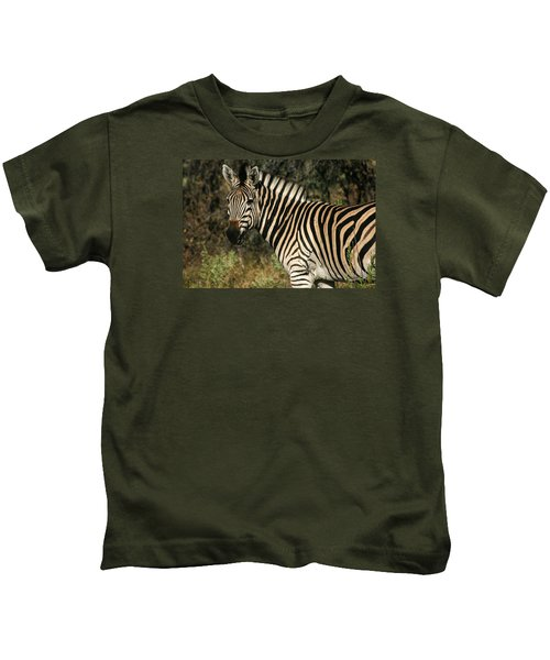 Zebra Watching Kids T-Shirt