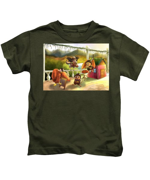 Zeke Cedric Alfred And Polly Kids T-Shirt