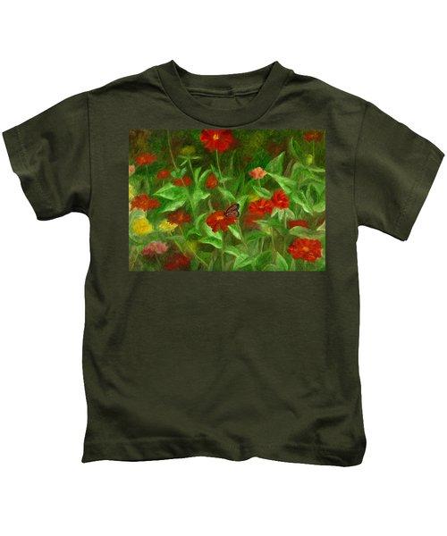 Zinnias Kids T-Shirt