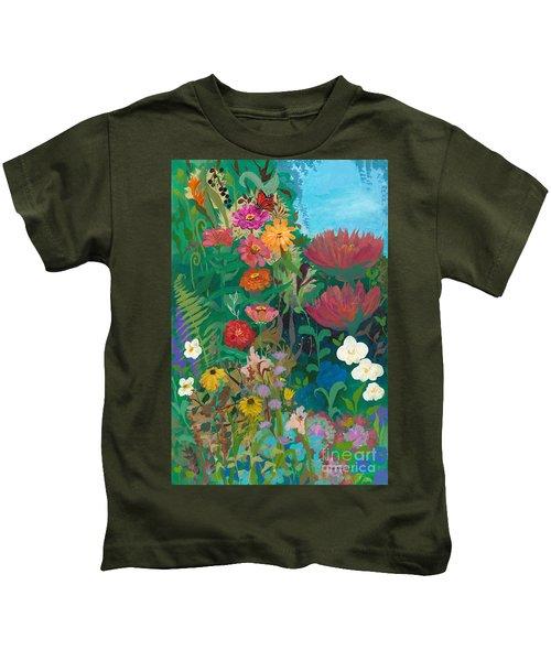 Zinnias Garden Kids T-Shirt