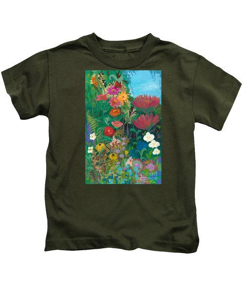 Zinnias Garden Kids T-Shirt