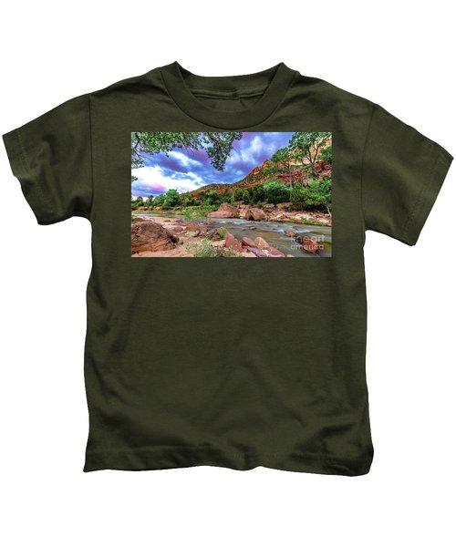 Zion At Daybreak Kids T-Shirt