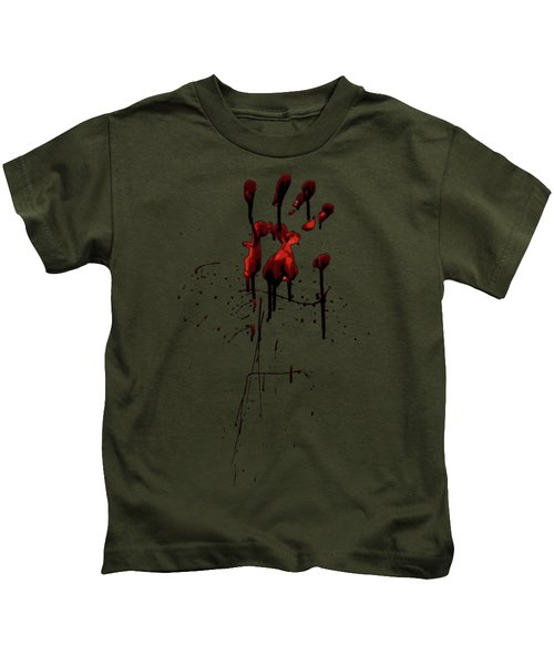 Zombie Attack - Bloodprint Kids T-Shirt