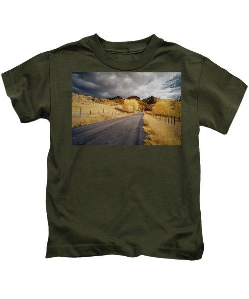 Back Road In Colorado Kids T-Shirt