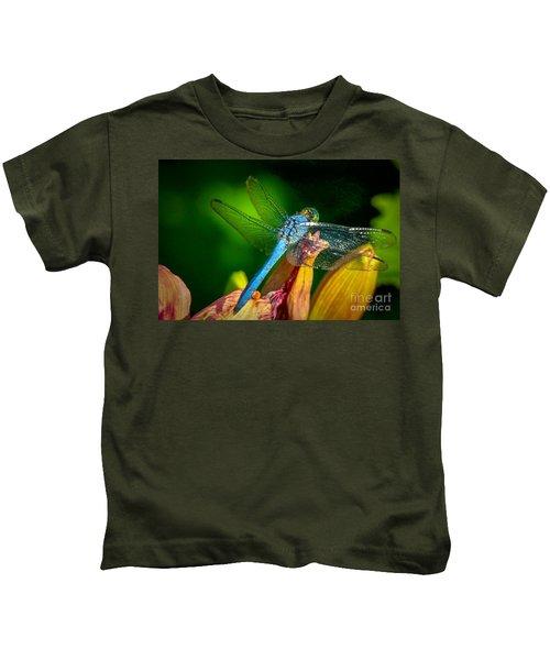 Blue Dragonfly Kids T-Shirt