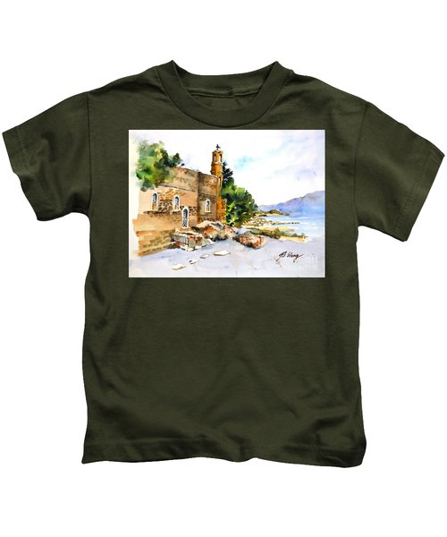 Church Of Primacy, Galilee Kids T-Shirt