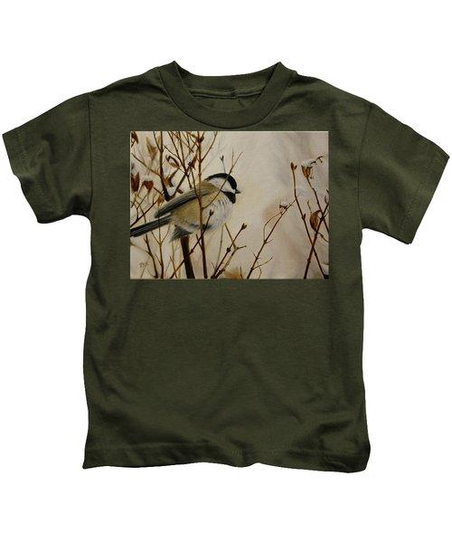 Faithful Winter Friend Kids T-Shirt